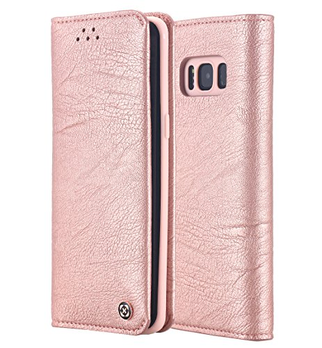 Galaxy S8 Case, [Wallet Function] PU Leather & Soft TPU Inner Case, Flip Folio Book Card Slots Cover for Samsung Galaxy… 1 Designed for Samsung Galaxy S8 2017 only Travel light with the built-in card slots and cash sleeve made to hold up to 2 cards and various bills Quality synthetic leather covers the outside and inside of the case for a seamless look and feel