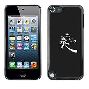 Caucho caso de Shell duro de la cubierta de accesorios de protección BY RAYDREAMMM - Apple iPod Touch 5 - Es curioso lo que he hecho mal