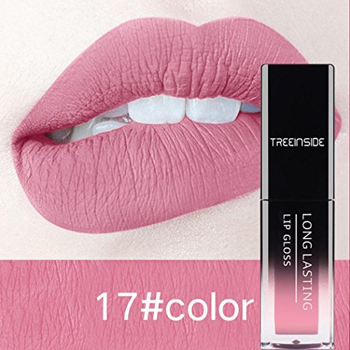 Eletty Sexy Color-saturated Lip Gloss Matte Waterproof Fade-resistant Lipstick Party Dating (A)