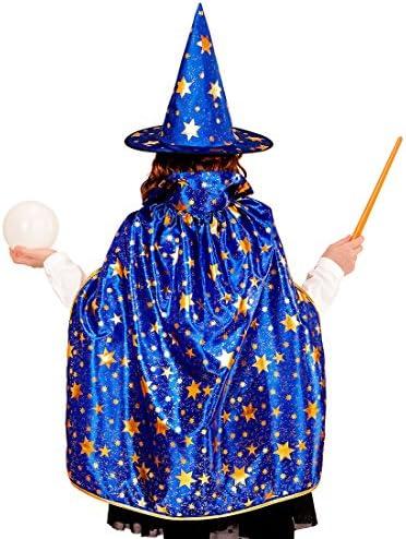 Divertente Cappello a Punta Simil Pelle per stregoni /& maghe Amakando Cappello da Mago Medioevale per Streghe /& stregoni Unidea per Halloween /& Feste in Costume Marrone