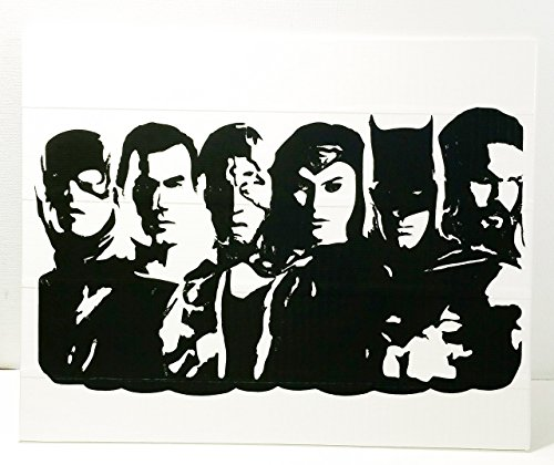 Duct Tape and Vinyl Art Piece of The Justice League -