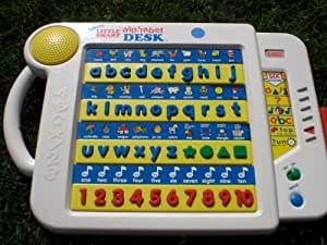 Amazon Com Vtech Little Smart Talking Alphabet Desk Toys