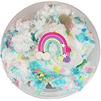Rainbow Cloud Slime 8 oz Handmade Pina Colada Scented Rainbow Charm w/Glitter Package Stress Relief Party Favor