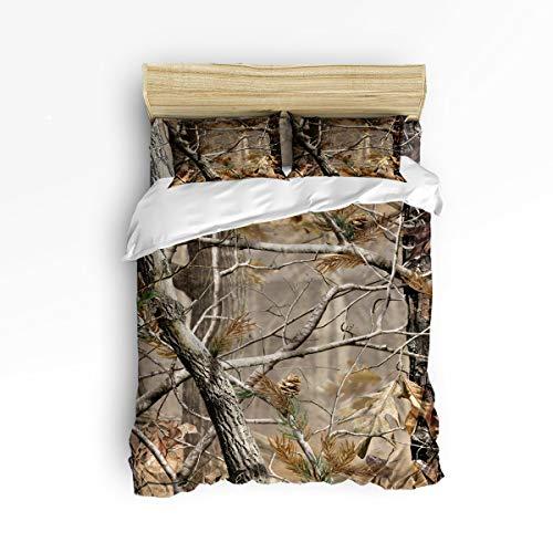 - BMALL Duvet Cover Set King Size, Autumn Camouflage Tree Soft Stylish Home Decor Duvet Cover Set