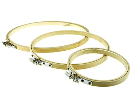 Amazon.com: Round Bamboo Embroidery Hoops Frames 4\