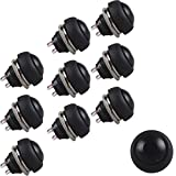 Etopars™ 10 X 12mm Black Car Vehicle Round Toggle Switch Momentary 2Pin