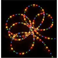 Sienna Multicolored Indoor/Outdoor Christmas Rope Lights, 18'