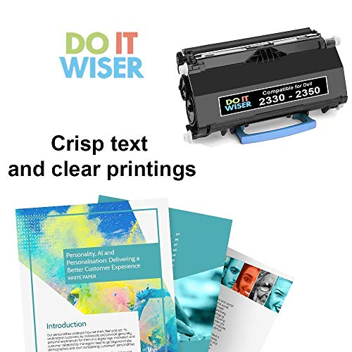 Do it Wiser Compatible Dell PK941 High Yield Toner for Dell 2350DN 2330DN  2330D 2330DTN 2330 2350D 2350 Printer (Black - 6,000 Pages)