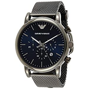 Emporio Armani Men's Chronograph Quartz Watch with Stainless Steel Mesh Strap AR1979