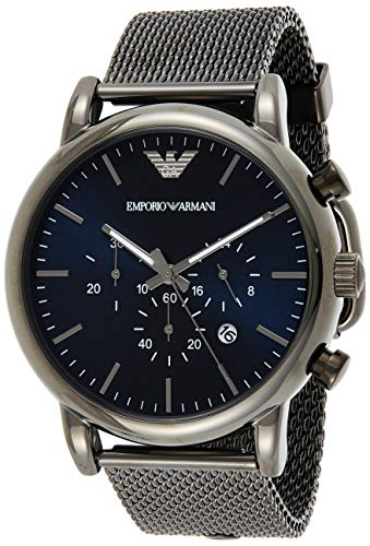 Emporio Armani Men's Chronograph Quartz Watch with Stainless Steel Mesh Strap AR1979