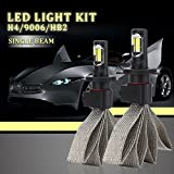 YANDW 11000LM 110W H4/HB2/9003 LED Car Headlight Headlamp Kit Bulb Hi/Low White 6000K (2 Pack)