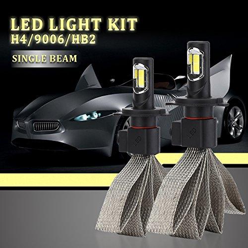 YANDW 11000LM 110W H4/HB2/9003 LED Car Headlight Headlamp Kit Bulb Hi/Low White 6000K (2 Pack)