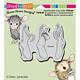 Stampendous Rubber House Mouse Cling Stamp 4.5-inch x 4.75-inch, Stockings Hung by Stampendous