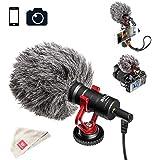 BOYA BY-MM1 Video Microphone Youtube Vlogging Facebook Livestream Recording Shotgun Mic for iPhone HuaWei Smartphone DJI Osmo Mobile 2,for ZHIYUN Smooth Q Smooth 4 Feiyu Vimble Canon Sony DSLR Cameras