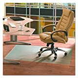 """Ecotex Recycled PET Chair Mat for Hard Floors, 36"""" x 48"""", Rectangular, Tinted (FCECO3648EP)"""