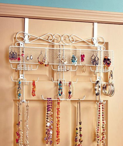 2016 NEW Over the Door Jewelry Valet Storage Organizer Necklace Bracelets Rings Wall by Sunday Market (Image #1)
