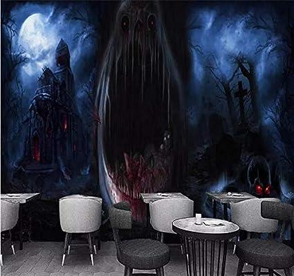 Xzcwwh Custom Wallpaper 3d Stereo Mysterious Horror Haunted