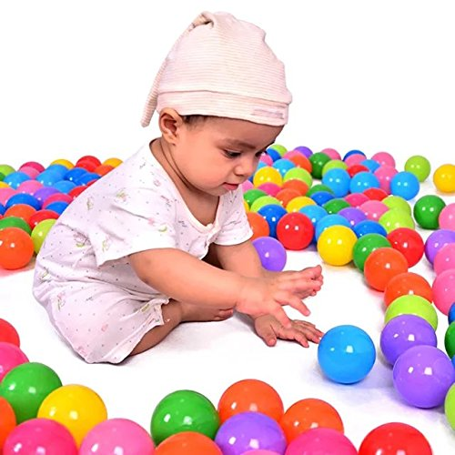 50 Pcs Colorful Fun Plastic Soft Balls Swim Toys Ocean Ball Pit for Play Tents Playhouses Kiddie Pools Pack 'N Play Bounce Houses for Kids Birthday Christmas Gift 2.16''