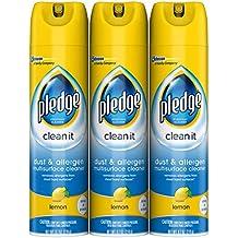 Pledge Dust & Allergen Multisurface Cleaner, Lemon, 9.7 oz, 3 ct