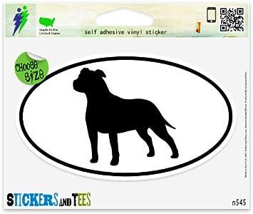1x Staffordshire Bull Terrier Inside-Window,Car,Van,Sticker,Sign,Adhesive,Dog