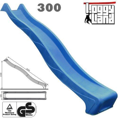 Anbaurutsche Wellenrutsche 3m blau - TÜV/GS