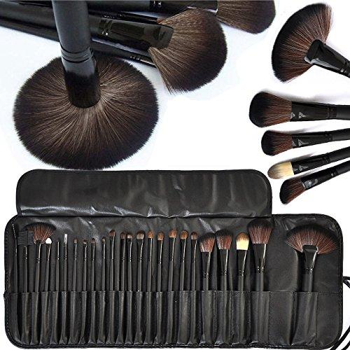 8pcs Eye Makeup Brushes Set Eyeshadow Lipstick Powder Brush Tool (Black) - 5