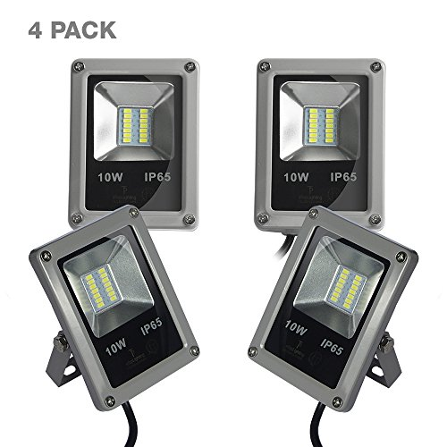 ETOPLIGHTING 10W Outdoor LED Flood Light, 12 Volts, Waterproof IP65, 3,000 Life Hours, 100W Halogen Equivalent, Daylight White 5500K, APL1499