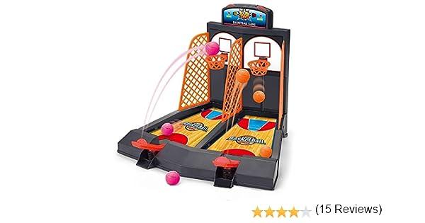 OurKosmos® Dedo del Doble del Tiro de Baloncesto de Escritorio Juguete Educativo del Juego Entre Padres e Hijos interacción Juego Diversión y Deportes: Amazon.es: Juguetes y juegos