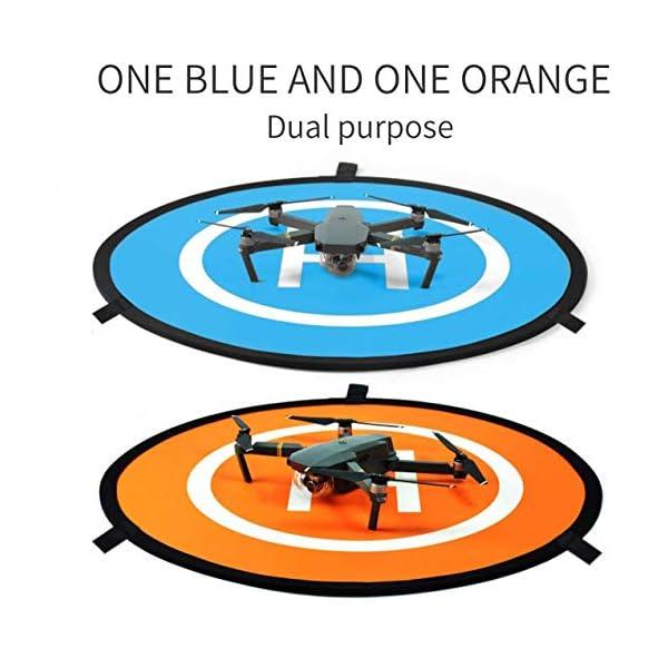 CaLeQi Drone Landing Pad Universale Impermeabile Portatile Pieghevole Landing Pad 55cm/21.65 ''per RC Drone Elicottero, PVB Droni, DJI Mavic PRO Phantom 2/3/4 PRO, Antel Robot, 3DR Solo 6 spesavip