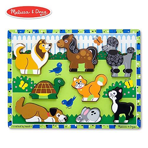 Melissa & Doug Pets Wooden Chunky Puzzle (8 ()