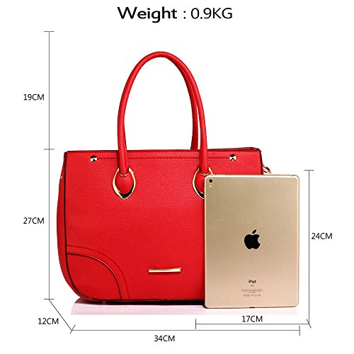 On Detachable Shinny And Bottom The Bag Strap Top On Studs A Bag Support Metal New Look The Handbags Handle With Shoulder Shoulder Golden Beautiful Womens Gold Work Ladies Long For Red And A 7qHwng
