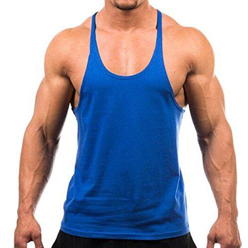 Zcargel Mens Y Back Training Vest Moisture Wicking Sports Basketball Tank Top Singlet Stringer Sleeveless Gym T Shirt