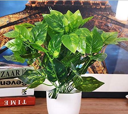 Ramas de hojas artificiales Oiisun, plantas verdes artificiales para jardín, boda, hogar, decoración de interiores/exteriores: Amazon.es: Hogar