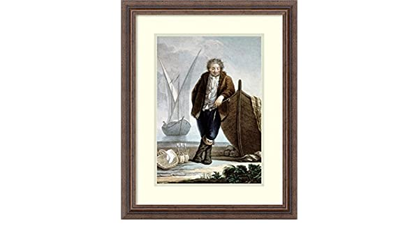 Amazon.com: Framed Art Print \'Sailor Leaning Against Boat Hullfrom ...