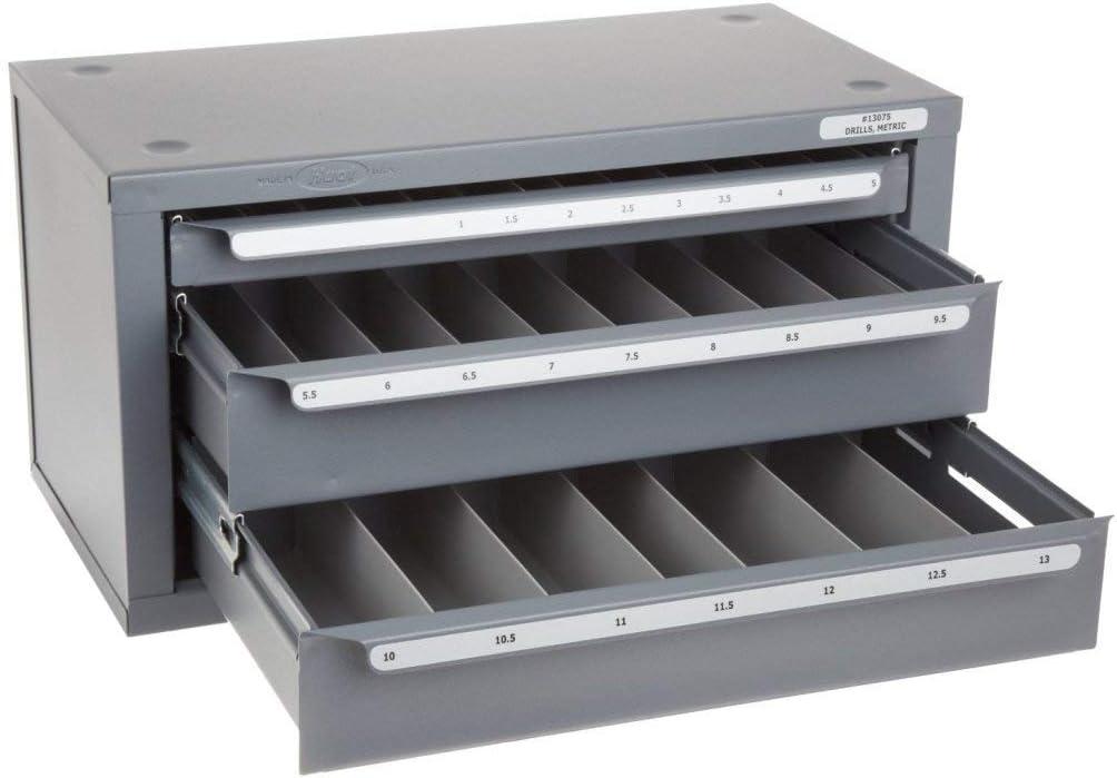 B0002FSCTO Huot 13075 Three-Drawer Drill Bit Dispenser Cabinet for Metric Sizes 1 mm to 13 mm in 0.5 mm Increments 51TaoneUHLL.SL1024_