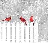 Paperproducts Design ''Snowfall Cardinals'' Paper Cocktail/Beverage Napkins, Multicolor