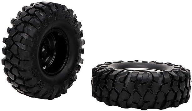 Tbest Neumáticos 4Pcs RC, Neumático de Goma de Cubo de ...