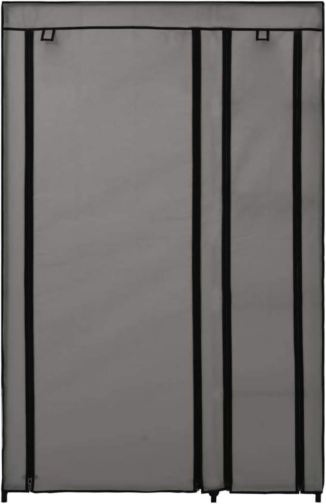 vidaXL Armario plegable de tela color crema 110x45x175 cm