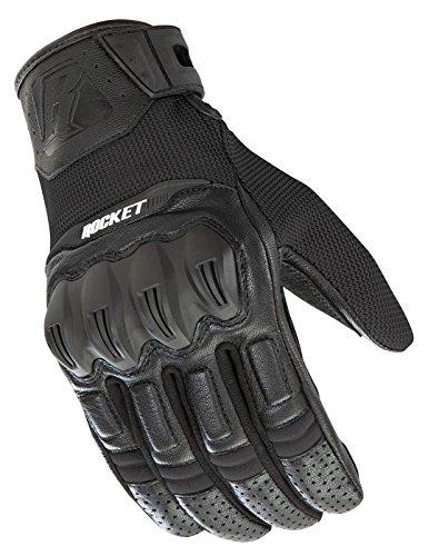 Joe Rocket Men's Phoenix 5.1 Hybrid Motorcycle Glove (Black, Large)