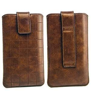 Cinturón Funda Protectora LG P720Optimus 3d max marrón Funda Case Cover Funda Con zieh banda