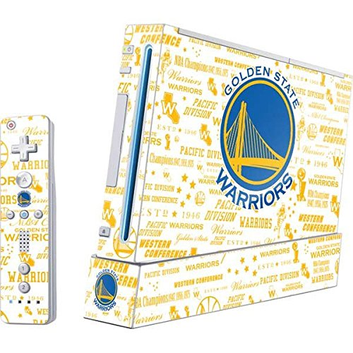 NBA Golden State Warriors Wii (Includes 1 Controller) Skin - Golden State Warriors Historic Blast Vinyl Decal Skin For Your Wii (Includes 1 Controller) by Skinit