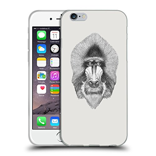GoGoMobile Coque de Protection TPU Silicone Case pour // Q05400631 Portrait mandrill Platine // Apple iPhone 7