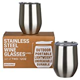 Stainless Steel Wine Glasses with Lid - Set - Best Reviews Guide