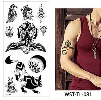 4 Unids, Tatuajes Temporales De Moda Debajo Del Ombligo Sexy ...
