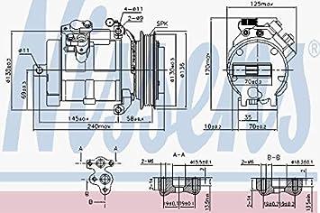 Nissens 890049 Compresor para Aire Acondicionado: Amazon.es: Coche y moto