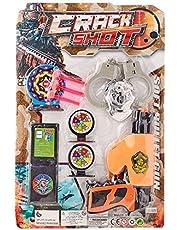 لعبة مسدس تصويب مع اسهم وكلبشات للاولاد