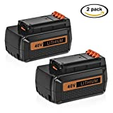 Mrupoo 2 Pack 40 Volt MAX 2.0Ah Lithium Ion Replacement Battery...