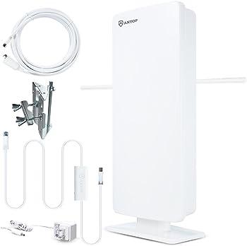 Antop Flat-Panel Smartpass Amplified Outdoor/Indoor HDTV Antenna