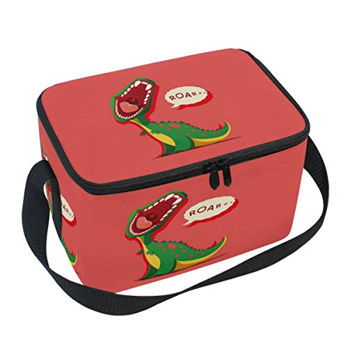 Naanle Animal Canvas Zipper Insulated Lunch Bag Cooler Tote
