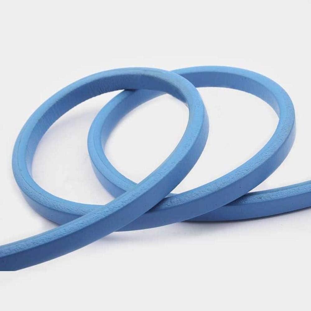 ASDAF Accesorios de Bricolaje Tipo de Cable 10x6mm cordón de Cuero Pulsera de Cuero marrón de Cuero Regaliz 1m,Azul